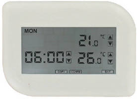 Digital Programmable Thermostat includes heat pump control.