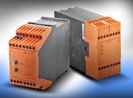 Safety Speed Relay Modules monitor single- and 3-phase motors.