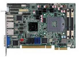 Half-Size SBC provides up to 16 GB DDR3 memory via 2 slots.