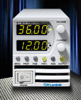 Programmable DC Power Supplies deliver 400 W of power.