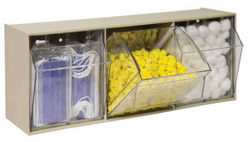 Tilt-Out Bins conserve space while increasing storage density.
