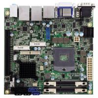 Mini-ITX Motherboard leverages Intel QM77 Express Chipset.