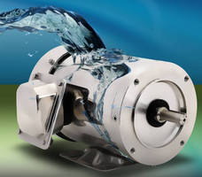 Stainless Steel 3-Phase Motors withstand washdown applications.