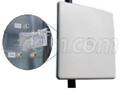 Dual Polarized Flat Panel Antenna features 14 dBi gain.