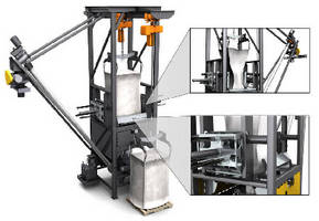 Bulk Bag Unloader features 4-stage material conditioning.