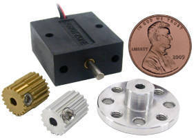 Micro Gearmotors weigh less than 0.6 oz.