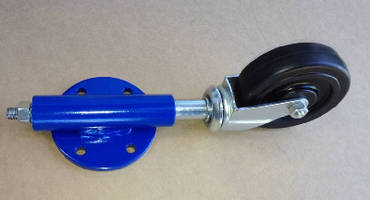 Self Locking Spring Caster features adjustable locking pads.