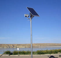 LED Flood Light uses 125 W solar electric power assembly.