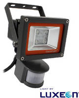 LED Floodlights feature passive infrared motion sensor.