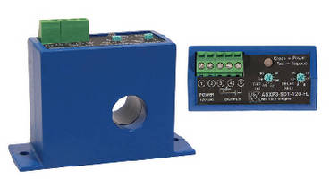 Current Sensing Switches offer adjustable setpoint from 1-80 A.