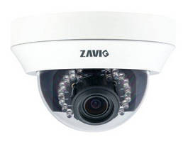 Megapixel Dome IP Camera is suited for indoor surveillance.