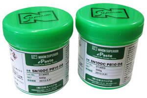 Solder Paste exhibits low voiding properties.