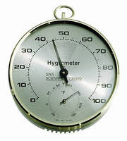 Dial Hygrometer/Thermometer can be used in labs, classrooms.