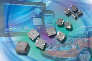 High-Current Inductors operate at temperatures to 155°C.