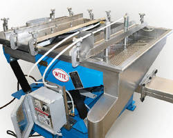 Auto-Tapper automatically frees lodged pellets from classifier.