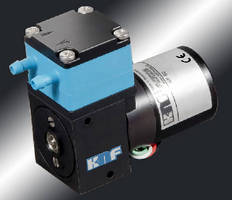 Brushless DC Motor powers liquid and gas OEM diaphragm pumps.