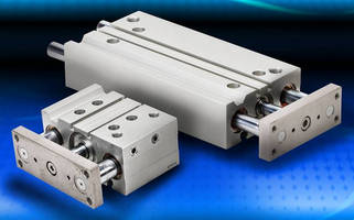 Dual Rod Guided Pneumatic Air Cylinders operate up to 142 psi.