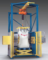 Automated Bulk Bag Conditioner loosens solidified materials.