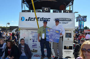 Jet Edge Waterjets Featured on Special #55 Toyota Camry at Sylvania 300 in Loudon, N.H., Brian Vickers Drives #55 to Top 10 Finish
