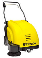 Walk-Behind Sweeper Cleans Carpet and Hard-Surface Floors