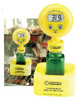 Refrigerator/Freezer Thermometer mimics exact temp of samples.