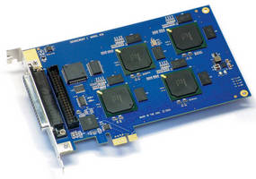 H.264 PCIe Encoder captures 16 video and 16 audio inputs.