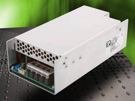 Rugged 350 W AC/DC Power Supplies comply with SEMI-F47.