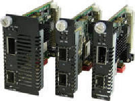 Media Converter Modules create 10 Gigabit Ethernet links.