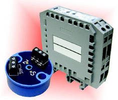 Temperature Transmitters offer DIN rail or head mounting.