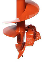 Earth Auger complements portable, hand-held hole diggers.