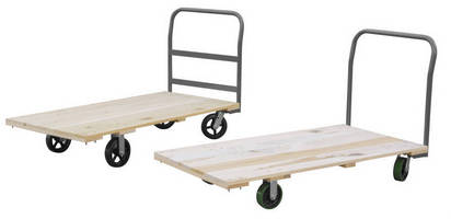 Wood Platform Truck offers several deck, caster options.