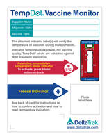 Cold Chain Temperature Monitoring Card traces vaccines over time.