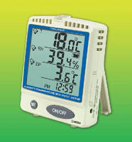 Thermometer with Memory Card stores 5.9 million readings.