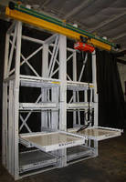 Roll-Out Shelf Racks include attachable hoist systems.