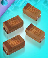 Tantalum Polymer SMD Chip Capacitors are rated for high voltages.