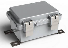 Hinged NEMA Electrical Enclosure has double latch design.