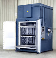 Electrically-Heated Walk-In Oven heats parts at up to 850°F.