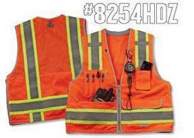 Class 2 Surveyors Vest includes 7 pockets for optimal storage.