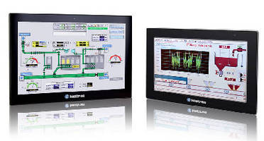 Widescreen Panel PCs monitor production processes.