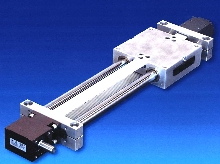 Linear Motion Slide features toothed belt drive.