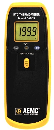 K and RTD Thermometers measure in °F and °C.