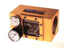 Mechanical Flow Meter measures 50 to 150 gallons per minute.