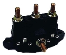 Reversing Polarity Contactor integrates 2 solenoid contactors.