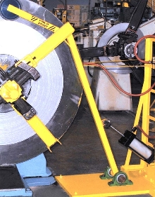 Coil Steel Hold-Down Device offers heavy-duty components.