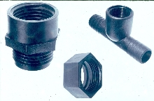 Pipes, hoses, and nozzle fittings come in 2 plastic types.