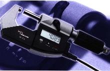 Digital Micrometer measures to nearest micron.