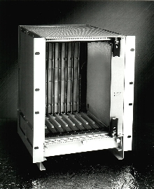 Computer Chassis holds 8 CompactPCI cards.