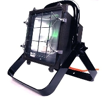 Floodlight has NEMA 7 pattern for wide coverage.