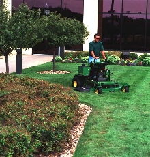 Commerical Mowers provide operator comfort.