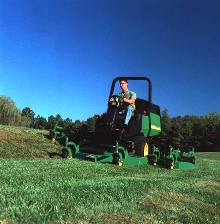 Wide-Area Mower cuts 8.5 acres per hour.